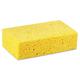 Boardwalk BWKCS3 Large Cellulose Sponge, 4 3/10 x 7 4/5, Yellow, 24/Carton