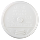 Dart 16UL Plastic Lids, for 16oz Hot/Cold Foam Cups, Sip-Thru Lid, White, 1000/Carton