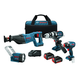 Factory Reconditioned Bosch CLPK414-181-RT 18V Lithium-Ion 4-Tool Combo Kit