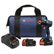 Bosch IDH182-B24 18V EC Brushless 1/4 in. and 1/2 in. Socket-Ready Impact Driver Kit with (2) CORE18V Batteries