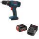 Bosch HDB180B-NSKC181-101-BNDL 18V Compact 3/8 in. Cordless Hammer Drill Driver Combo Kit