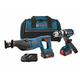 Factory Reconditioned Bosch CLPK203-181-RT 18V Cordless Lithium-Ion 1/2 in. Hammer Drill & Reciprocating Saw Kit