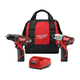 Milwaukee 2494-22 M12 12V Cordless Lithium-Ion 3/8 in. Drill Driver and Impact Driver Combo Kit