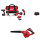 Milwaukee 2695-2448-11-18500884-20-bndl M18 18V Cordless Lithium-Ion 4-Tool Combo Kit with BONUS 5.0 Ah Extended Capacity Battery and Compact Handheld Blower