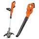 Factory Reconditioned Black & Decker LCC321R 20V MAX Cordless Lithium Ion String Trimmer and Sweeper Combo Kit