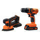 Black & Decker BD2KITCDDS 20V MAX Lithium Ion Drill/Driver & Mouse Detail Sander Combo Kit
