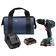 Factory Reconditioned Bosch HDS183-02-RT 18V 2.0 Ah Cordless Lithium-Ion Brushless Compact Tough 1/2 in. Hammer Drill Kit