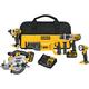 Dewalt DCK590L2 20V MAX 3.0 Ah Cordless Lithium-Ion 5-Tool Combo Kit