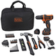 Black & Decker BCPK1249C 12V MAX Lithium-Ion Drill/Driver 43-Piece Project Kit