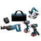 Factory Reconditioned Bosch CLPK430-181-RT 18V Lithium-Ion Heavy Duty 4-Tool Combo Kit