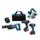 Factory Reconditioned Bosch CLPK420-181-RT Cordless Lithium-Ion 4-Tool Combo Kit