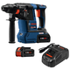 Factory Reconditioned Bosch GBH18V-26K24-RT CORE18V 6.3 Ah Cordless Lithium-Ion Brushless 1 in. SDS-Plus Bulldog Rotary Hammer Kit