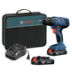 Bosch GSR18V-190B22 18V/1/2 in. Compact Drill/Driver Kit with 1.5 Ah SlimPack Batteries