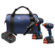 Factory Reconditioned Bosch GXL18V-225B24-RT 18V 6.3 Ah Cordless Lithium-Ion Hammer Drill and Impact Driver Combo Kit