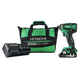 Hitachi WH18DBFL2S 18V Cordless COMPACT Lithium-Ion Brushless 1,522 in-lbs. Impact Driver Kit
