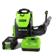 Greenworks 2404802 BPB80L2510 80V Backpack Blower with 2.5 Ah Battery and Charger