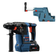 Bosch GBH18V-26K24-OSHA CORE 18V 6.3 Ah Li-Ion Brushless 1 in. SDS-Plus Bulldog Rotary Hammer Kit with Dust Collector