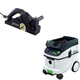 Festool PAC574553 Planer with CT 36 AC 9.5 Gallon Mobile Dust Extractor