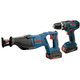 Bosch CLPK273-181 18V Cordless Lithium-Ion 1/2 in. Hammer Drill and Reciprocating Saw Combo Kit