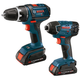 Bosch CLPK232-180 18V Cordless Lithium-Ion 1/2 in. Drill Driver and Impact Driver Combo Kit