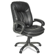 OIF OIFGM4119 Executive Swivel/Tilt Leather High-Back Chair (Fixed Arched Arms/Black)