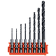 Bosch CCSDV08 8 Pc. Impact Tough Black Oxide Drill Bits with Clip for Custom Case System