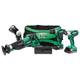 Factory Reconditioned Hitachi KC18DG4L 18V Cordless Lithium-Ion 4-Piece Combo Kit