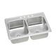 Elkay CR43224 Celebrity Top Mount 43 in. x 22 in. Equal Double Bowl Sink (Stainless Steel)