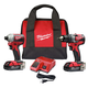 Milwaukee 2892-22CT M18 Compact Brushless Drill Driver / Impact Driver Combo Kit