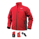 Milwaukee 202R-21L M12 Heated ToughShell Jacket Kit with Battery (Large/Red)