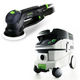 Festool P26571782 Rotex 5 in. Multi-Mode Sander with CT 26 E 6.9 Gallon HEPA Mobile Dust Extractor