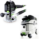 Festool P36574342 Plunge Router with CT 36 E 9.5 Gallon HEPA Mobile Dust Extractor