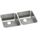 Elkay ELUH3118 Lustertone 30-3/4 in. x 18-1/2 in. x 7-7/8 in., Equal Double Bowl Undermount Sink (Stainless Steel)