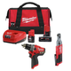 Milwaukee 255620-250320-48592424P M12 1/4 in. Ratchet and 1/2 in. Drill Driver with Free Starter Kit
