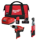 Milwaukee 255720-250420-48592424P M12 3/8 in. Ratchet and 1/2 in. Hammer Drill with Free Starter Kit