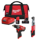 Milwaukee 255820-250320-48592424P M12 1/2 in. Ratchet and 1/2 in. Drill Driver with Free Starter Kit