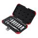Sunex 3830 30 Pc 1/4 in., 3/8 in. Drive Chrome Socket Set