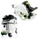 Festool P36561432 Plunge Cut Track Saw with CT 36 E 9.5 Gallon HEPA Mobile Dust Extractor
