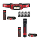 Milwaukee 2111-2110 USB Rechargeable Hard Hat Headlamp and 700L Flashlight Bundle