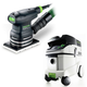 Festool P36567863 Orbital Finish Sander with CT 36 E 9.5 Gallon HEPA Mobile Dust Extractor