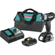 Makita XWT13RB 18V LXT Lithium-Ion 2.0 Ah Sub-Compact Brushless 1/2 in. Square Drive Impact Wrench Kit