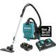 Makita XCV09PT 18V X2 LXT Lithium-Ion (36V) 5.0 Ah Brushless 1/2 Gallon HEPA Filter Backpack Dry Vacuum Kit