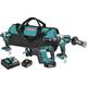 Makita XT336T 18V LXT Lithium-Ion 5.0 Ah Brushless 3-Piece Combo Kit