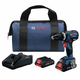 Bosch GSB18V-535CB25 18V Compact Tough Connected Ready Hammer Drill with 4.0 Ah CORE Compact Batteries