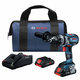Bosch GSB18V-755CB25 18V Lithium-Ion Brute Tough Connected Ready 1/2 in. Cordless Hammer Drill Kit (4 Ah)