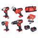 Milwaukee 2695-24 M18 18V Lithium-Ion 4-Tool Combo Kit