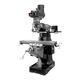 JET 894384 EVS-949 Mill with 2-Axis ACU-RITE 203 DRO and Servo X, & Z-Axis Powerfeeds and USA Air Powered Draw Bar