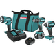 Makita XT335S 18V LXT 3.0 Ah Lithium-Ion Brushless 3-Piece Combo Kit