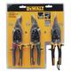 Dewalt DWHT70278 (3-Pack) Aviation Snips
