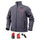 Milwaukee 202G-213X M12 Heated TOUGHSHELL Jacket Kit - Gray, 3X